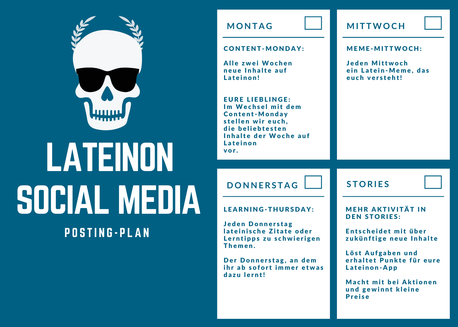 Neuer Posting-Plan für Social Media 2