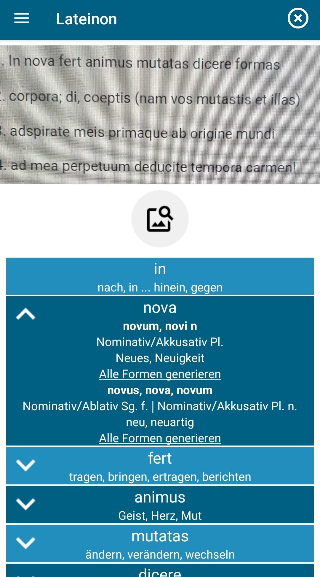 latein foto wörterbuch